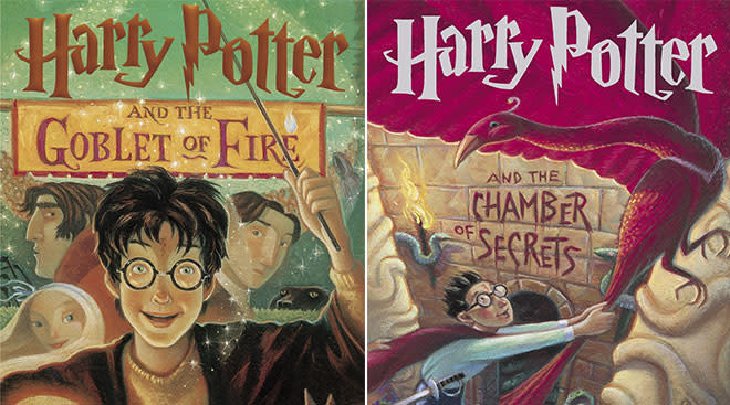 harry potter book covers