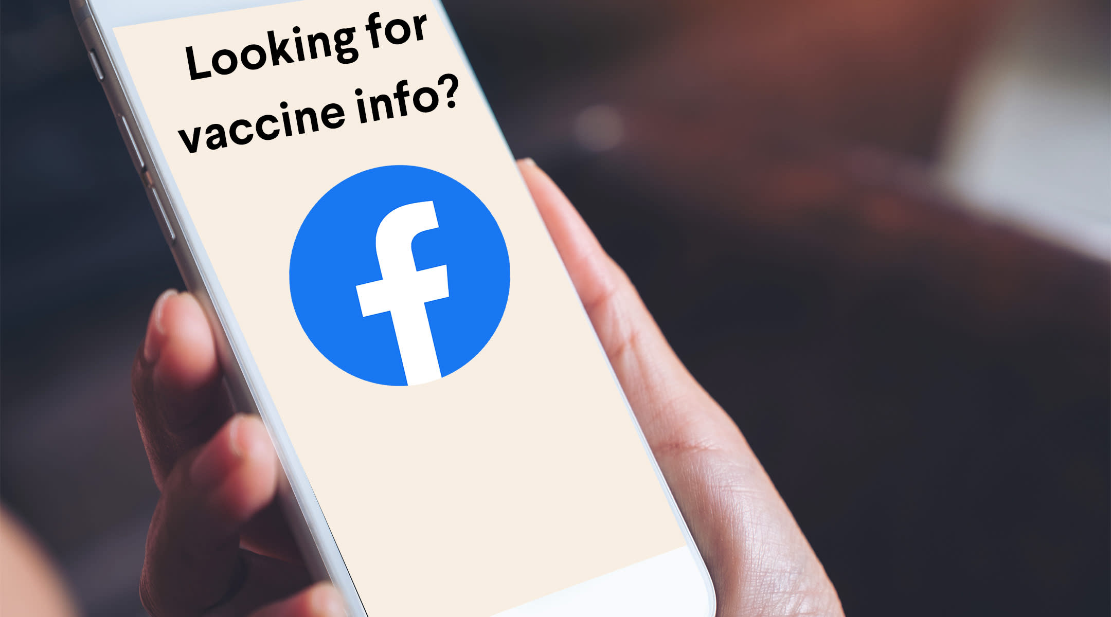 phone screen that shows mock up of vaccine pop up