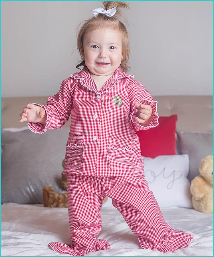 NWT Baby Gap Christmas Holiday Animals Santa Pajamas PJs 2PC Toddler Girl
