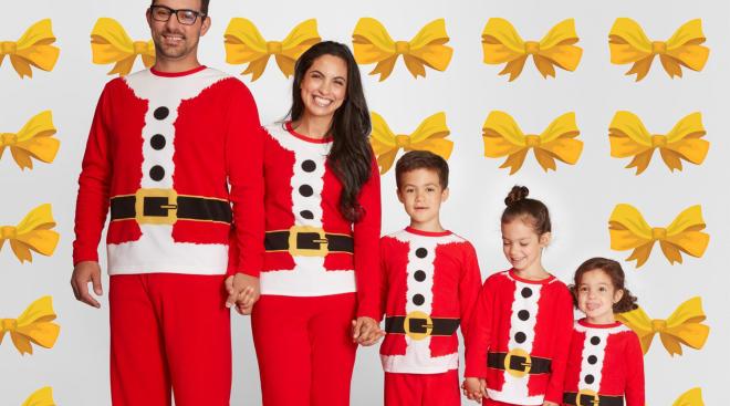 target matching family christmas santa pajamas