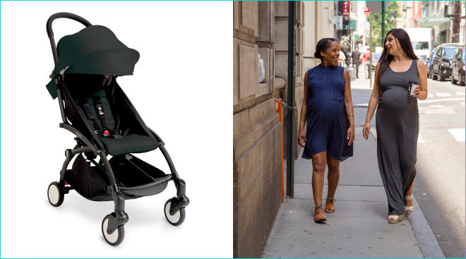 pregnant soon to be city moms walking in new york city