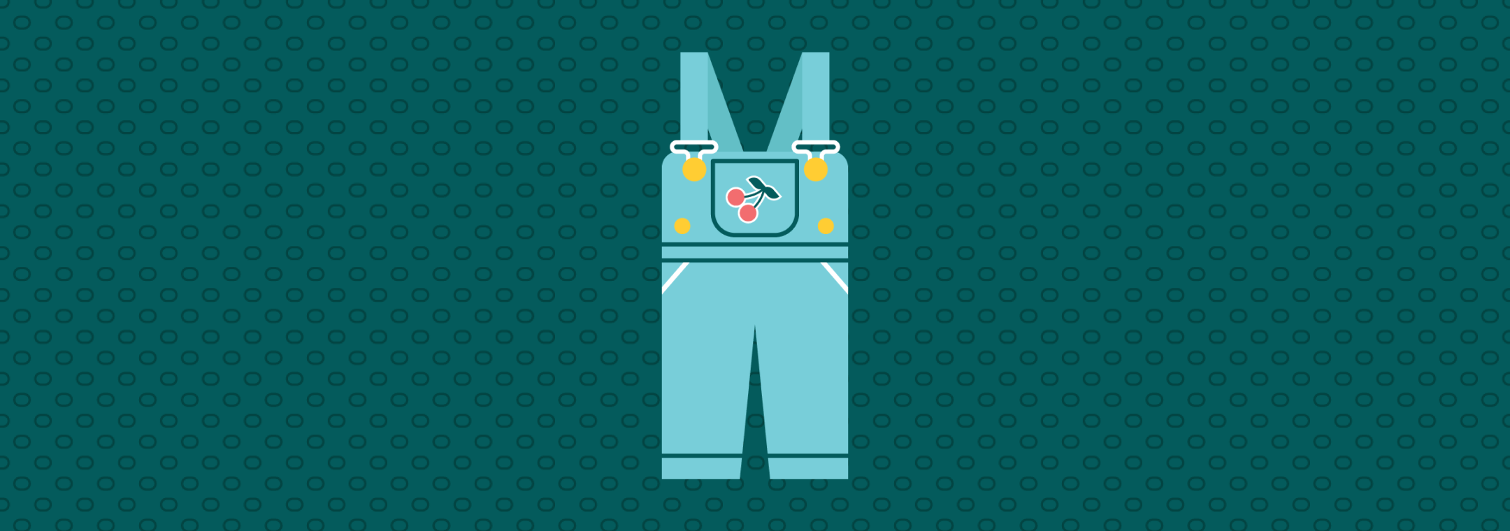 toddler overalls with cherry on the pocket