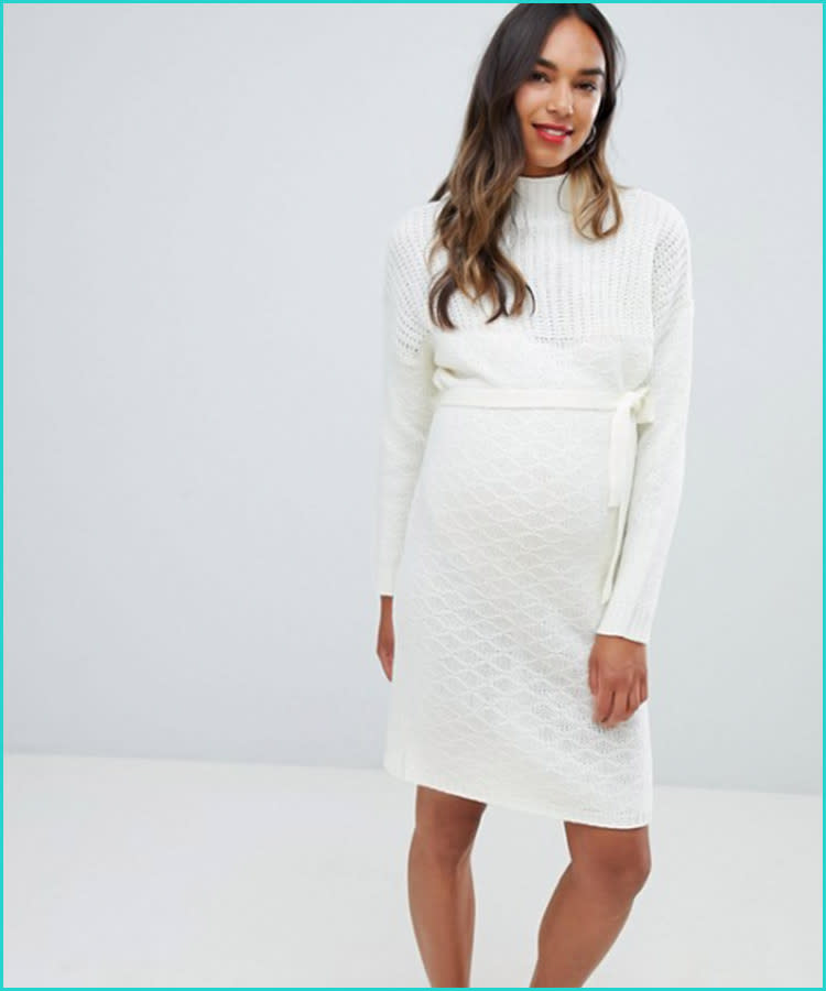 501ed842d37 asos-mamalicious-roll-neck-sweater-maternity-dress