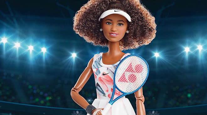 The Mattel barbie version of Naomi Osaka.
