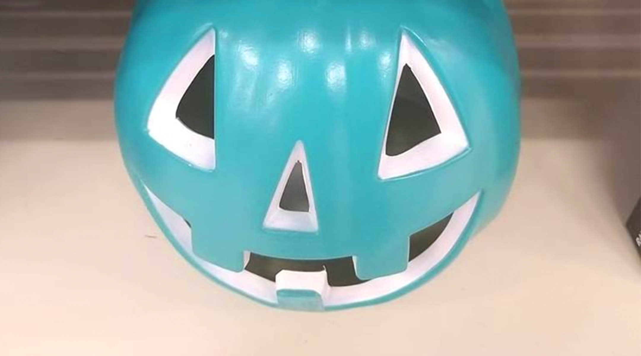 teal pumpkin at target lets people know their house has allergy safe candy options