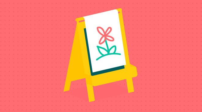 toddler art easel