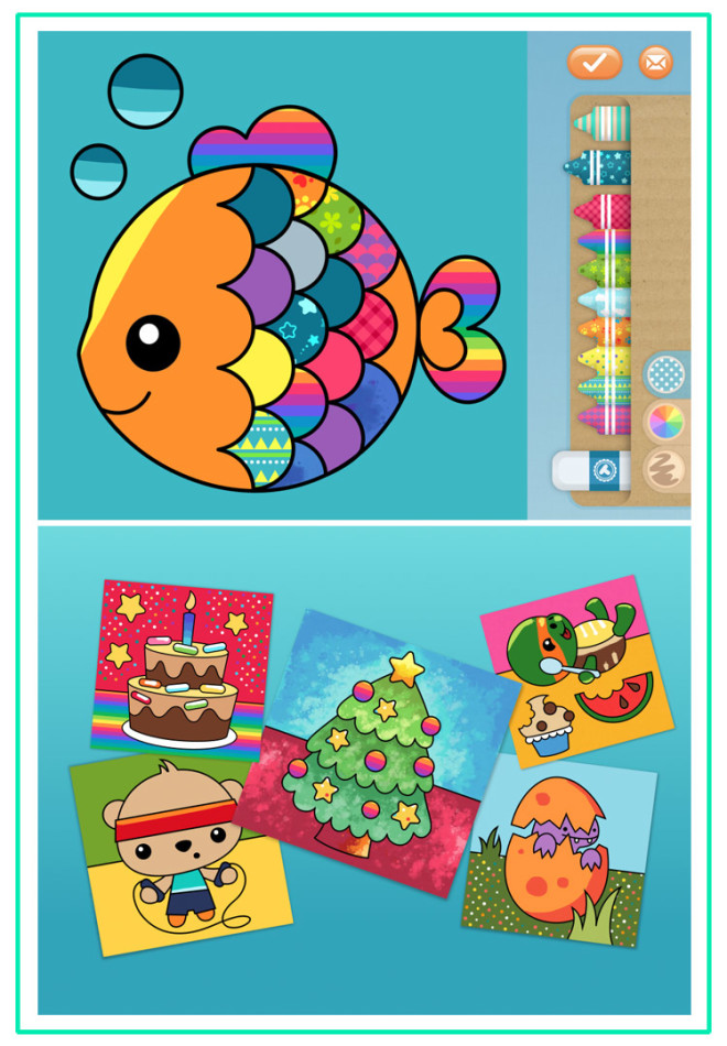 Toddler Apps Toonia Colorbook