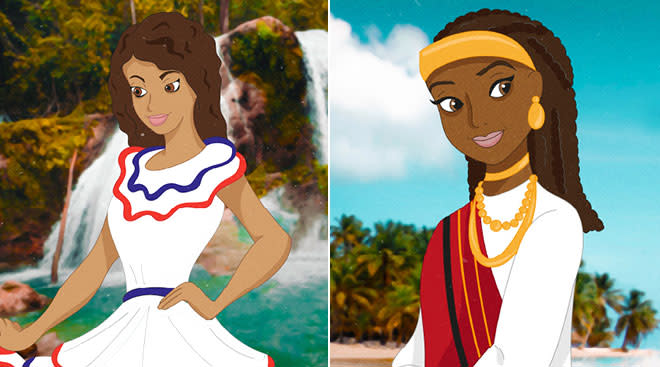 Illustration of Disney Princess from underrepresented countries.