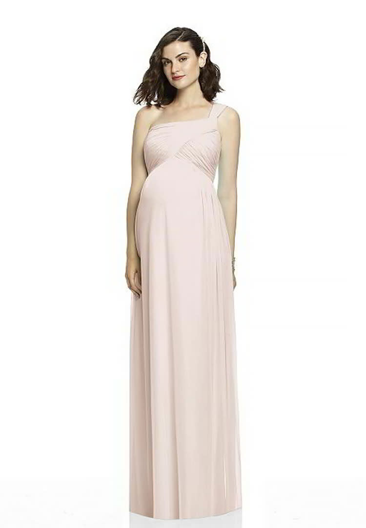 e4e374e6ff44 Alfred Snug blush maternity bridesmaid dress