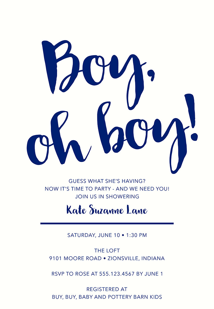 Baby Shower Invitation Wording For A Boy 2