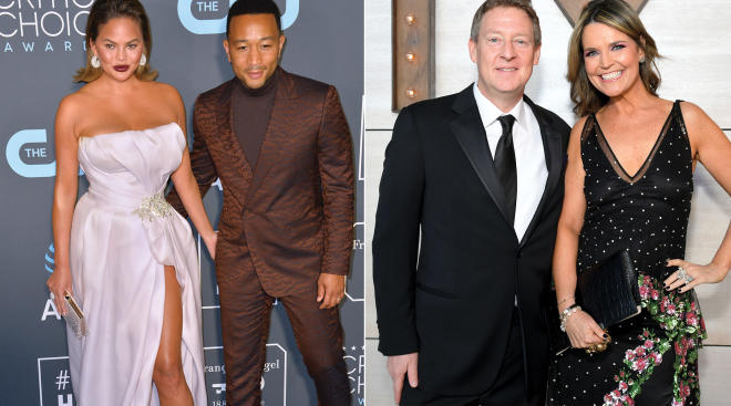 savannah guthrie and chrissy teigen with john legend, struggled with infertility