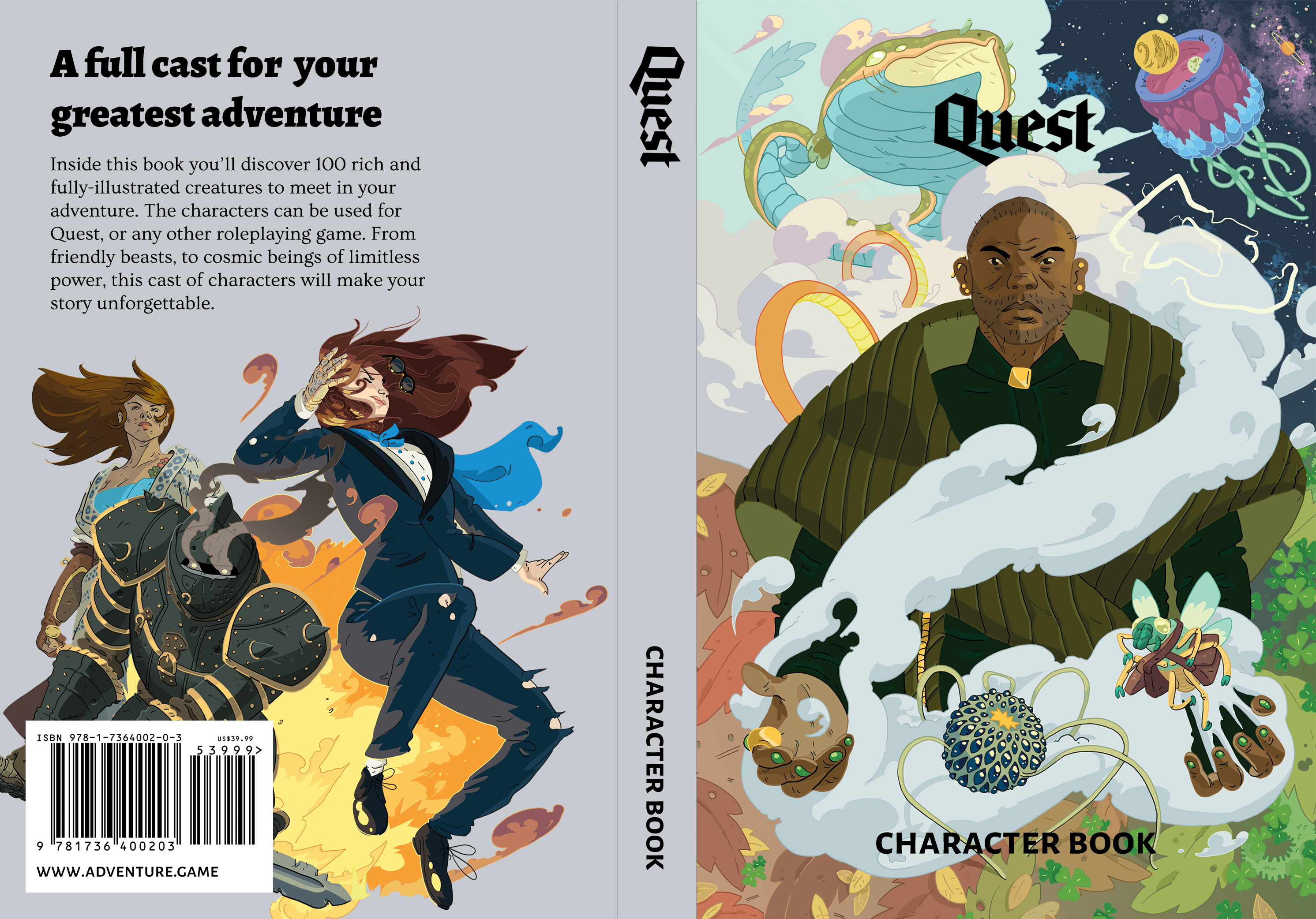 Quest Character Book Cover