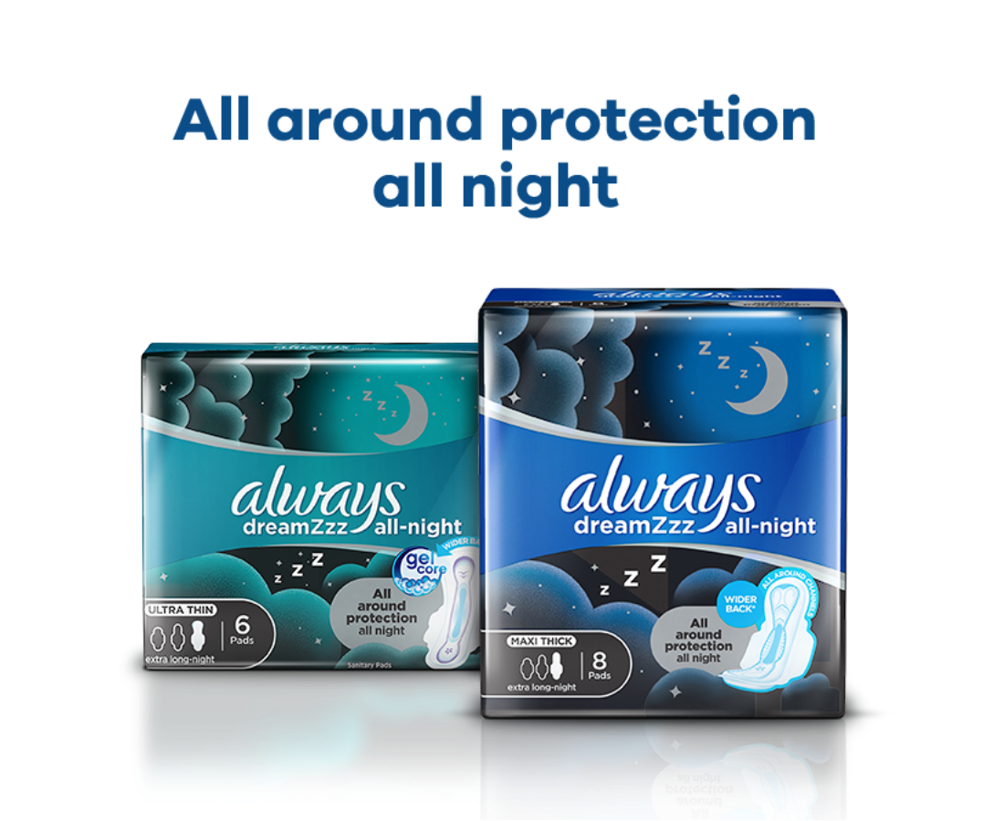 Always Dreamzzz All Night Maxi Thick Pads