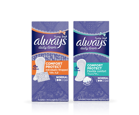 Always Comfort Protect Panty liners
