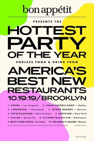 Bon Appétit's Hot 10 Party
