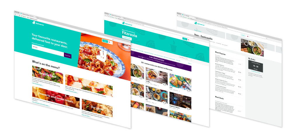 Deliveroo screenshot multiple