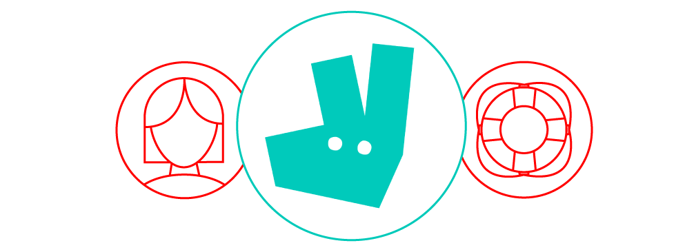 Deliveroo icons