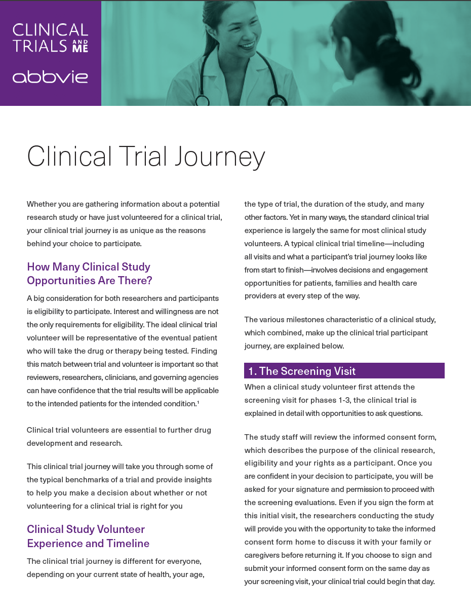 CLINICAL TRIAL JOURNEY - LEARN MORE image