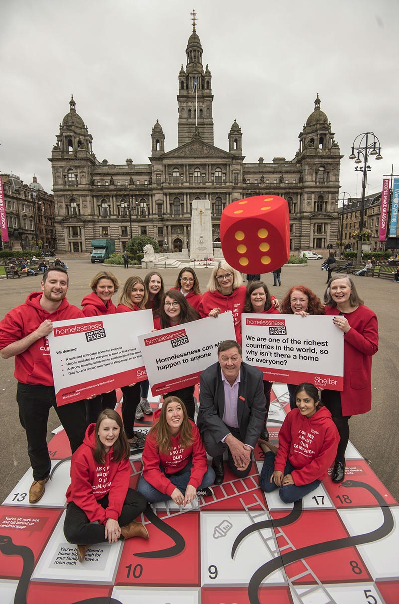 Shelter Scotland's Far From Fixed homelessness campaign kicks off