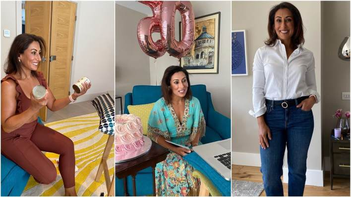 Saira Khan gets ready for Loose Women at home