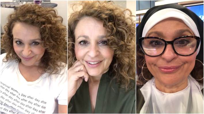 Nadia's Loose Women make-up looks
