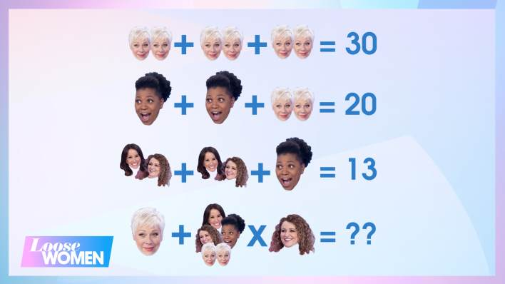 Can you solve this Loose Women maths puzzle?