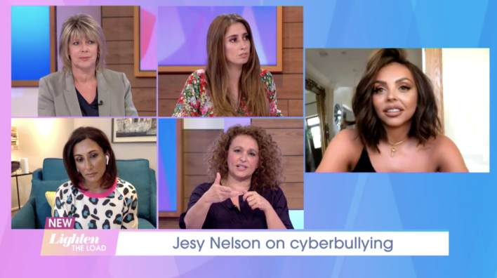 Jesy Nelson joins the Loose Women to talk about cyberbullying and ending mental health stigma