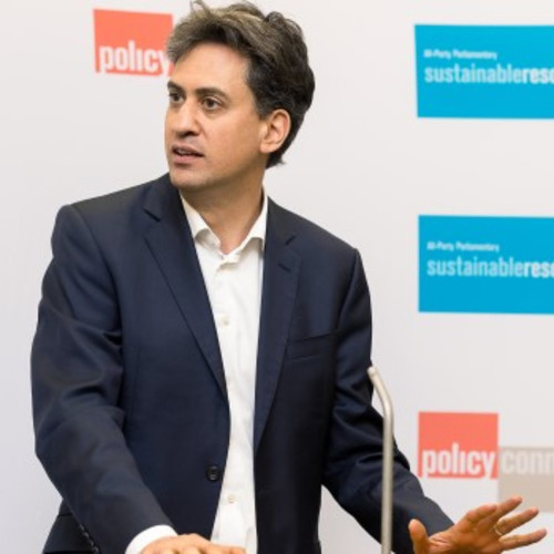 Ed Miliband giving a speech
