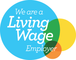 Living Wage Employer logo, signifying that Shelter is a Living Wage Employer