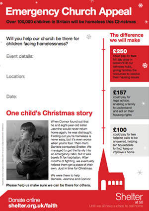 Emergency Christmas Appeal poster thumbnail