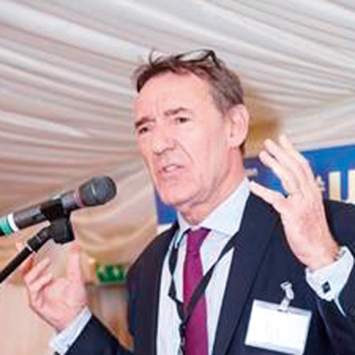 Jim O Neill giving a speech