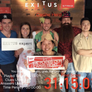We hold an escape room record!