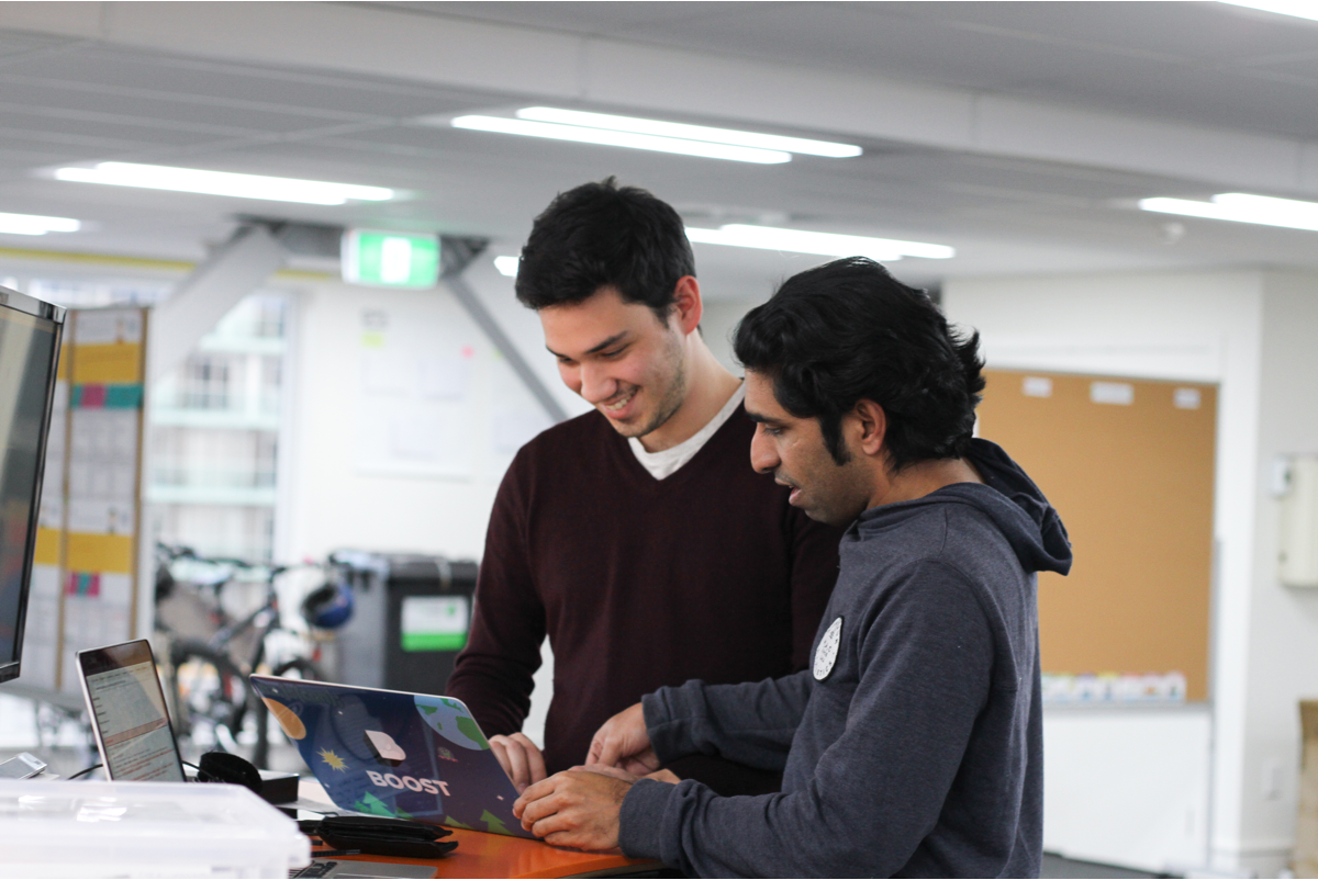 The team collaborating at Wellington web application development company Boost.