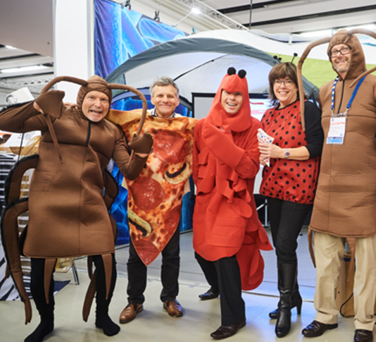 The GS1 New Zealand team in costumes at the conference.