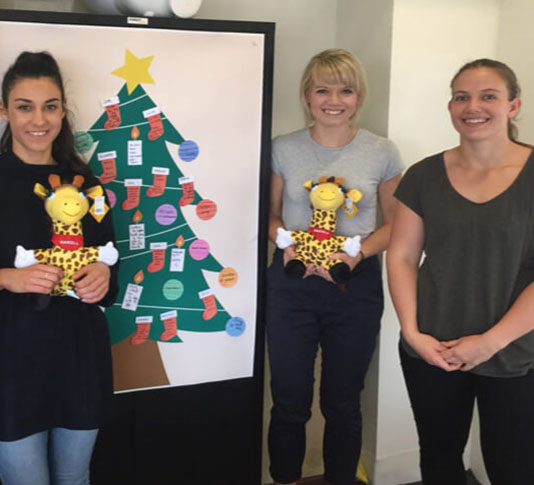 Rebecca and Lucy from Boost with Jess from Life Education (and Healthy Harold toys).