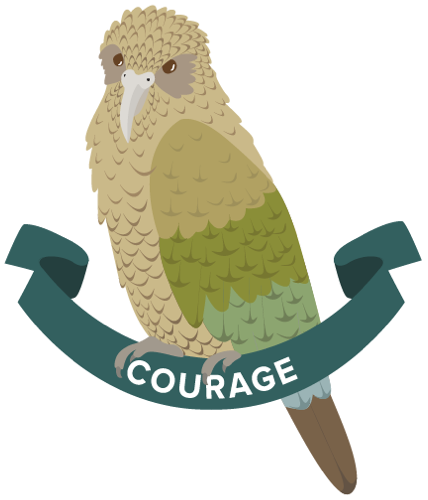 Kea icon for the Boost value of Courage.