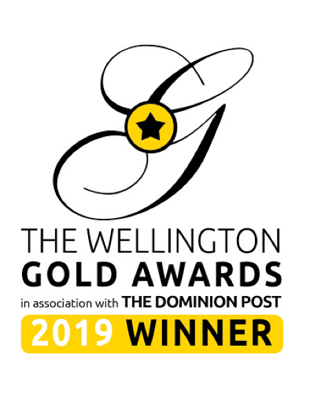 Wellington Gold Awards 2019 winner's badge.