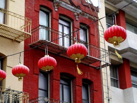 chinatown colorful paper lanterns