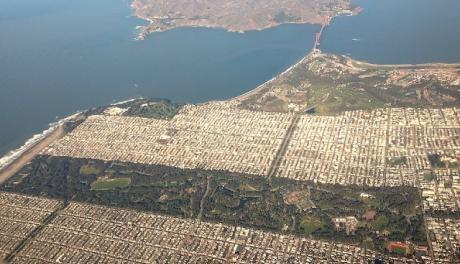 San Francisco Golden Gate Park from the air
