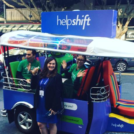 Lucky Tuk Tuk Dreamforce Shuttle for HelpShift