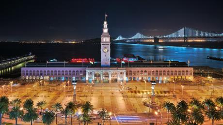 ferry building marketplace embarcadero night