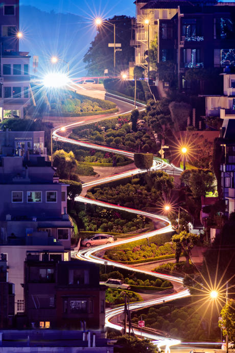 Lombard Street San Francisco night