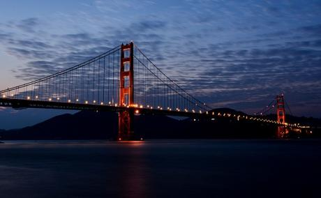 View of Golden Gate Bridge from Crissy Field