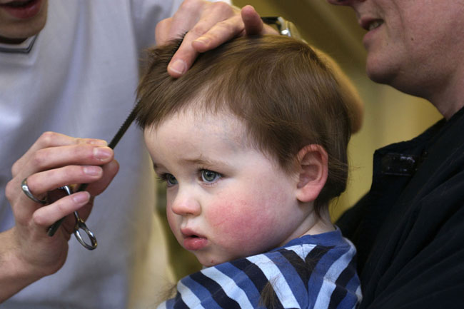 Baby-haircut