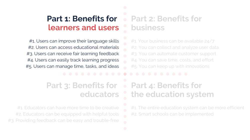 AI Benefits for learners and users