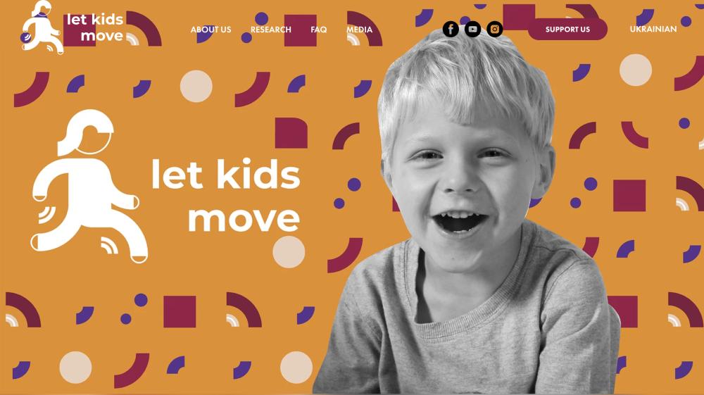 Let Kids Move website