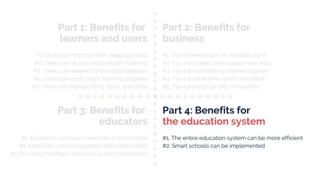 AI benefits for the education system