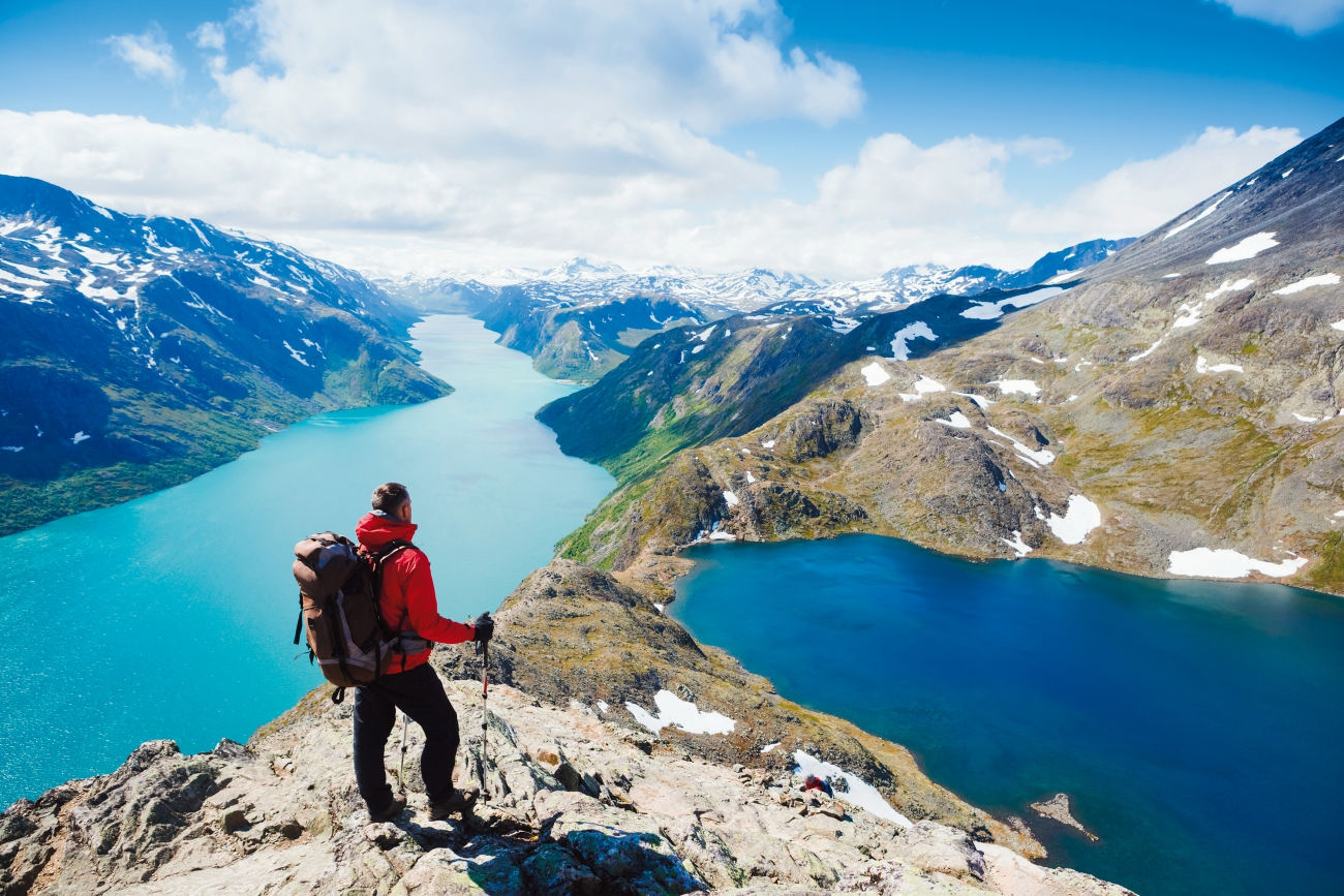 Hiker in Norway