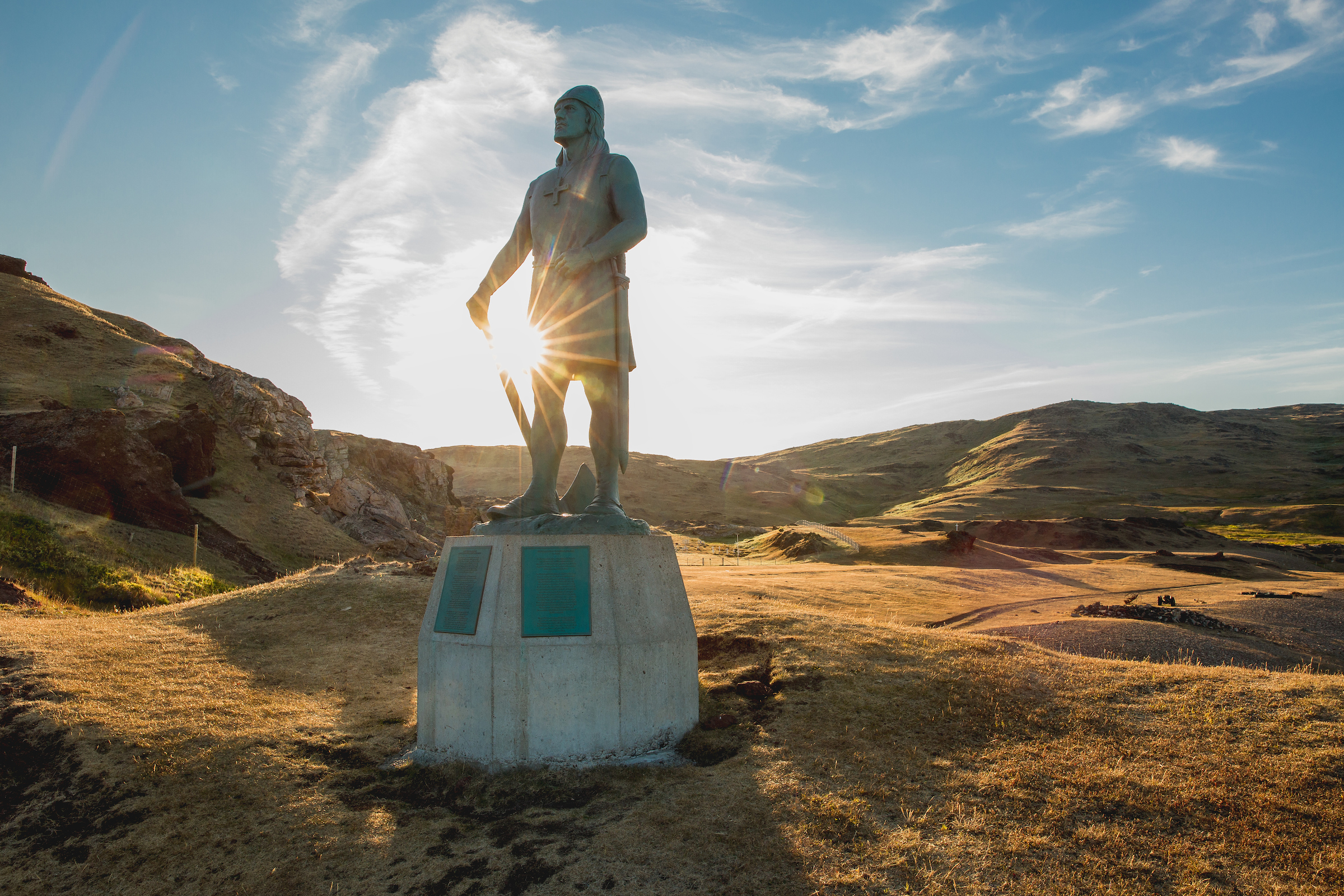 The statue of Leif Ericson, son of Erik the Red in Qassiarsuk in South Greenland