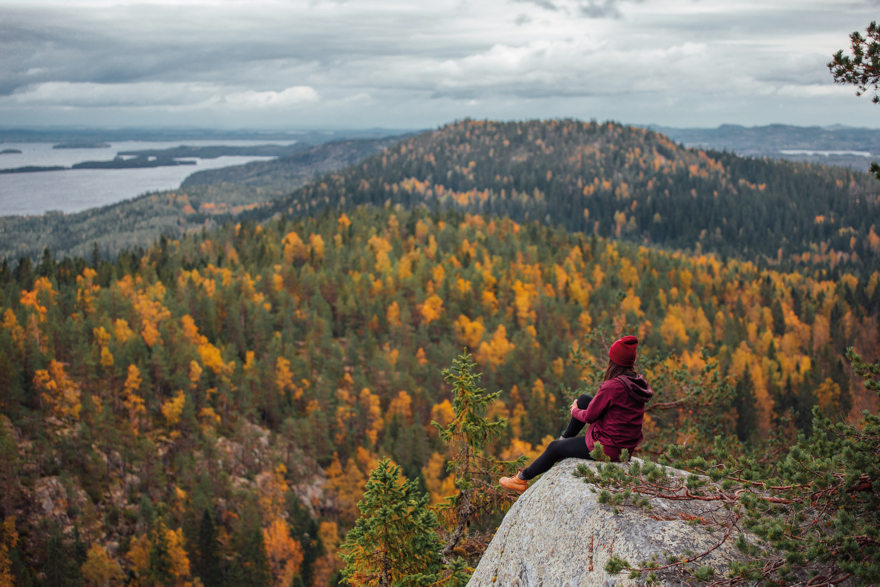 Hiking in Finland during Autumn